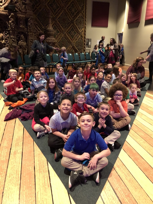 First Grade students at the Indiana Repertory Theatre