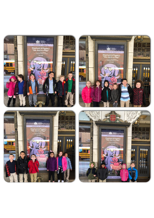 Mrs. Sickbert's class outside the Indiana Repertory Theatre!
