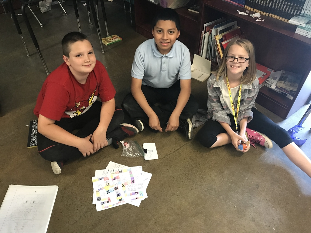 Students in Ms. McDaniel's class worked hard on their end-of-the-year math board game projects.